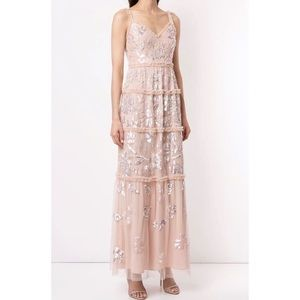 NWT needle & thread sequin Georgette gown dress